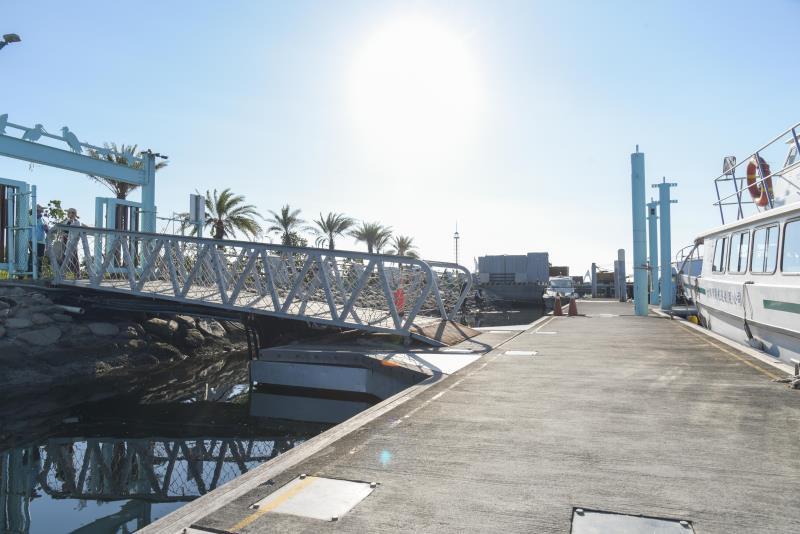 桟橋のバリアフリーの通路