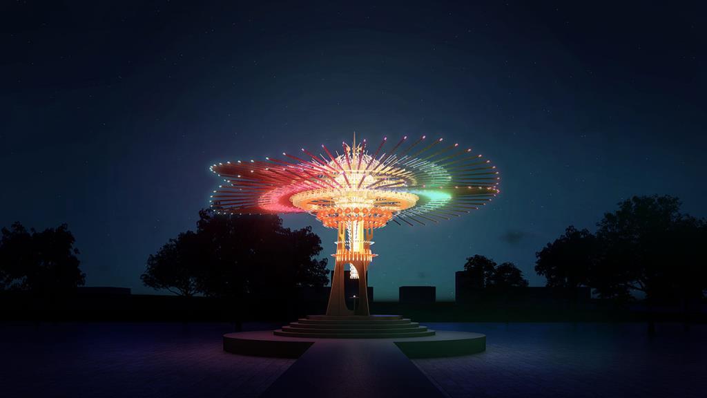 メインランタン「乗風逐光」  年度:2021  写真提供:交通部観光局