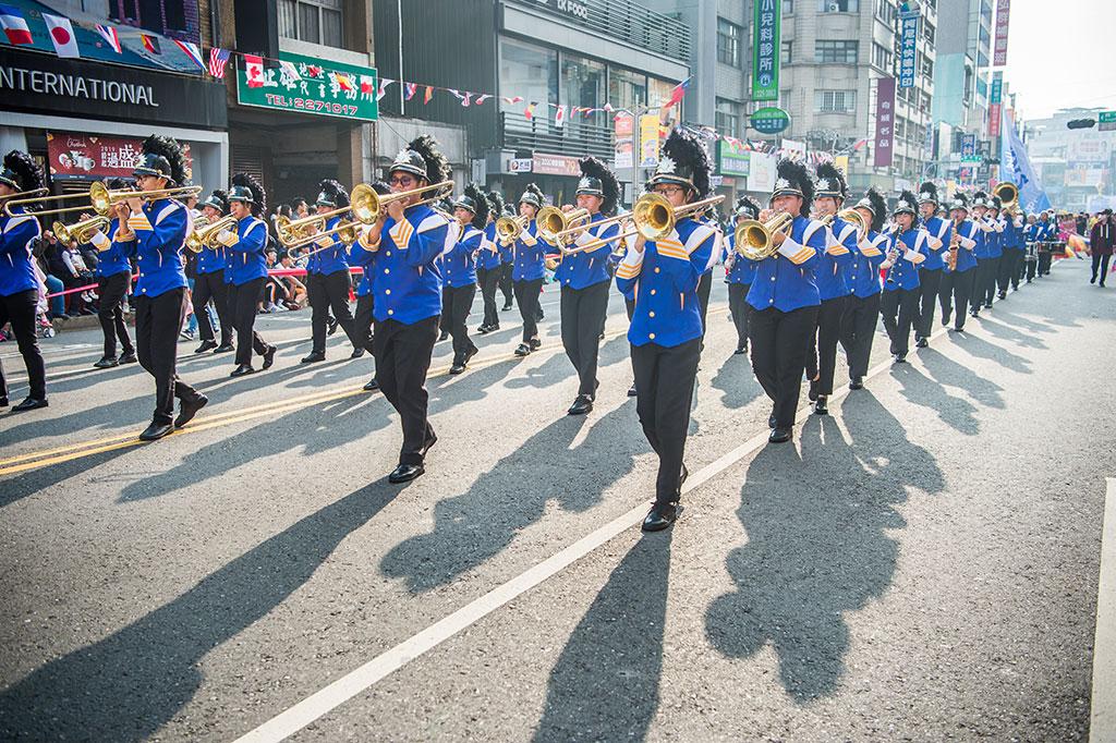 嘉義市東呉高級工業家事職業学校楽旗儀隊  年度:2019  写真提供:嘉義市政府