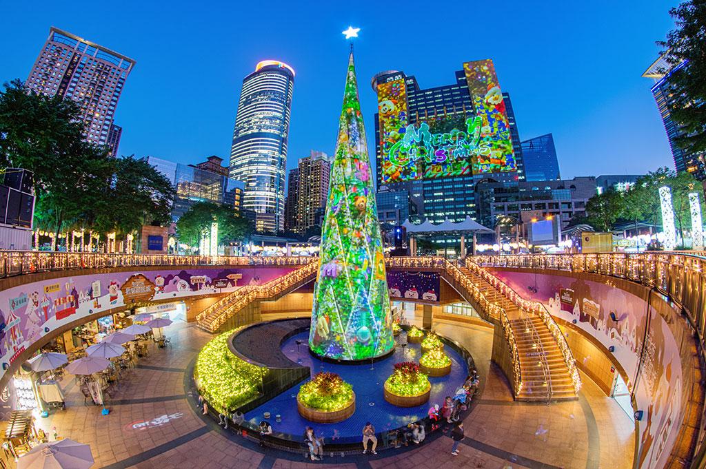 プロジェクションマッピングショー メリー・クリスマス  年度:2019  写真提供:新北市政府観光旅遊局