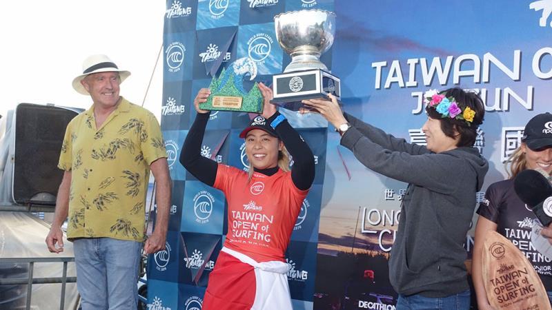ワールド・ジュニア・チャンピオンシップ(WJC)優勝-日本選手都筑有夢路  年度:2019  写真提供:台東県政府